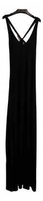 Tart Black Cotton Dress for Women