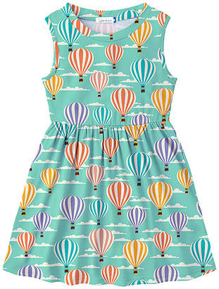 Sunshine Swing Girls' Casual Dresses - Turquoise Balloon A-Line Dress - Toddler & Girls