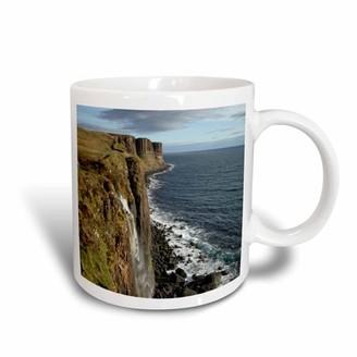3drose 3dRose Kilt Rock Waterfall, Trotternish Isle of Skye Scotland - EU36 DWA0013 - David Wall, Ceramic Mug, 11-ounce