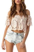Sky Lace Crop Top