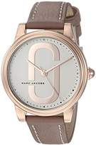 Marc Jacobs Women's 'Corie' Quartz Stainless Steel and Leather Casual Watch, Color:Brown (Model: MJ1579)