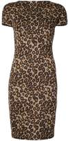 Rosetta Getty backless leopard print dress