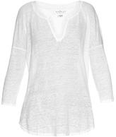 Velvet by Graham & Spencer Genesis drop-shoulder burnout-linen top