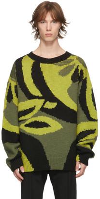 Dries Van Noten Green Wool Sweater
