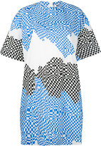 MSGM hypnotic contrast print T-shirt dress - women - Cotton - 40