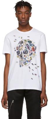Alexander McQueen White Beetle Skull T-Shirt