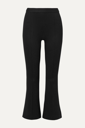 Rosetta Getty Cropped Stretch-jersey Flared Pants - Black