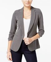 XOXO Juniors' Ruched-Sleeve Blazer