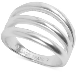 Lucky Brand Silver-Tone Imitation Stack Ring