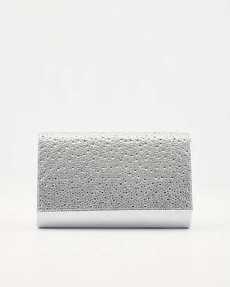 Le Château Jewel Embellished Faux Suede Crossbody Bag