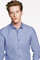 Next Mens Blue Patterned Shirt