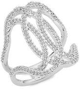Nadri Cubic Zirconia Open Crossover Ring