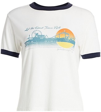 RE/DONE Let The Good Times Roll Ringer T-Shirt