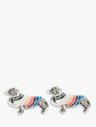 Paul Smith Dachsund Cufflinks, Stripe