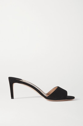 Jimmy Choo Stacey 65 Suede Mules - Black