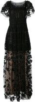 Alberta Ferretti embroidered gown - women - Polyester/Acetate/Silk/Rayon - 42