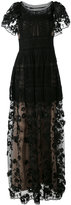 Alberta Ferretti embroidered gown - women - Silk/Cotton/Polyester/Rayon - 42