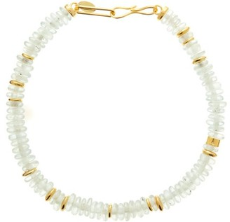 Lizzie Fortunato Laguana Recycled-bead &18kt Gold-plated Necklace - Light Blue