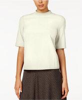 Kensie Short-Sleeve Mock-Turtleneck Top