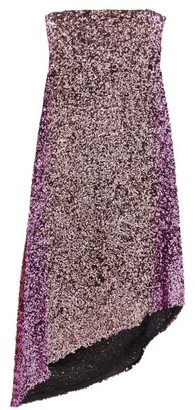 Halpern Asymmetric Degrade Sequinned Dress - Pink