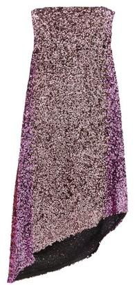 Halpern Asymmetric Degrade Sequinned Dress - Womens - Pink