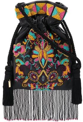 Etro embellished fringed crossbody bag