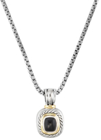 David Yurman Vintage 14K Yellow Gold, Sterling Silver & Onyx Albion Enhancer Necklace