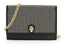 Alexander McQueen Women's Small Skull Studded Leather Crossbody Bag