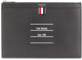 Thom Browne Paper Label clutch