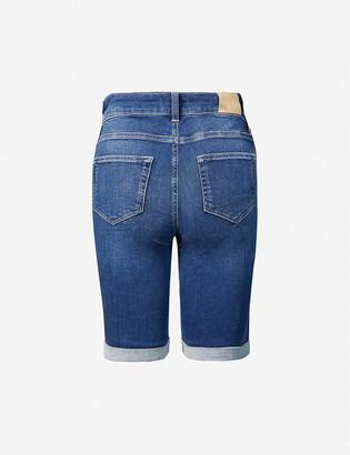 Paige Jax high-rise denim shorts