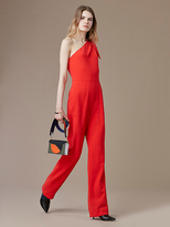Diane von Furstenberg One-Shoulder Knot Jumpsuit