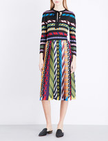 Mary Katrantzou Abstract-print pleated A-line dress