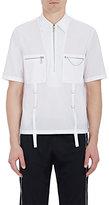 Maison Margiela Men's Cotton D-Ring Strap Shirt-WHITE
