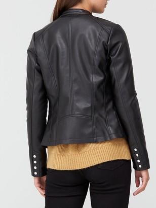 Very Pintuck PU Jacket - Black