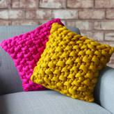 Lauren Aston Cullompton Colour Chunky Knitted Panel Cushion
