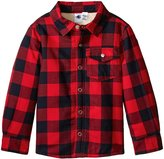 Petit Bateau Checkered Jacket (Toddler/Kid) - Red Navy - 6