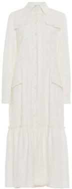 Luisa Beccaria Cotton-Blend Jacket Dress