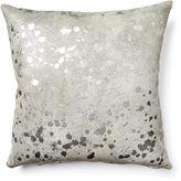 Le-Coterie Splash Cowhide Pillow, Silver