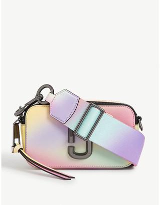 Marc Jacobs Snapshot airbush-effect leather cross-body bag