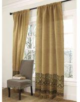 Urn Burlap Curtain Panel