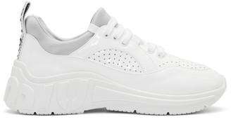 Miu Miu White Patent Run Sneakers