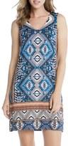 Karen Kane Women's 'Yucatan' Tile Print V-Neck Shift Dress