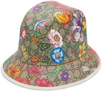 Gucci Flora pattern fedora