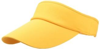 Winkey Women's Empty Top Sunhat Sport Headband Classic Sun Visor Caps Hat (Yellow)