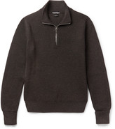 Tom Ford - Ribbed Wool Half-zip Sweater