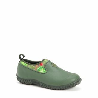 Muck Boot Muck Muckster ll Ankle-Height Women's Rubber Garden Boots-Green/Veggie Print (M2LW-302)