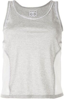 Chanel Pre Owned 2004 Sport line mesh panel tank