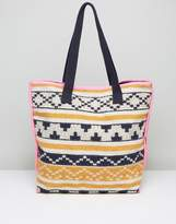 Pieces Tapestry Beach Tote Bag