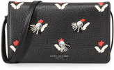 Marc Jacobs Embellished Tulip Print Cross Body Wallet