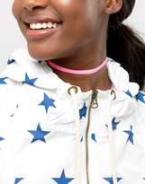Asos Neon Velvet Choker Necklace